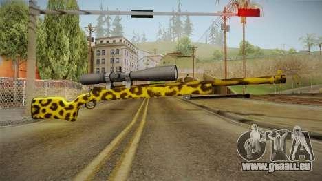 Leopard Sniper Rifle für GTA San Andreas zweiten Screenshot