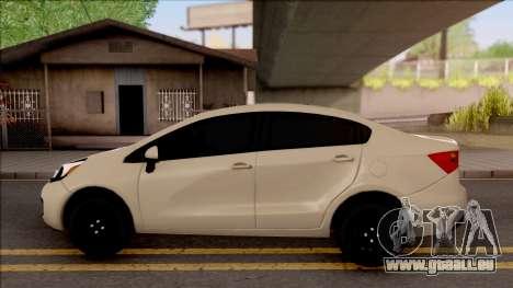 Kia Rio 2012 pour GTA San Andreas laissé vue