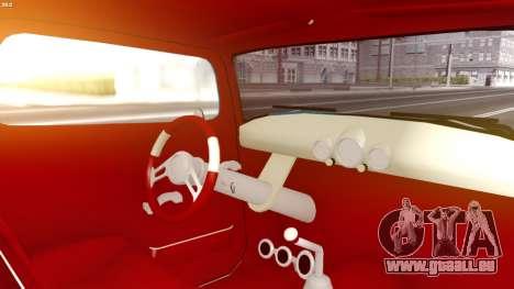 Ford Hot-Rod pour GTA San Andreas sur la vue arrière gauche