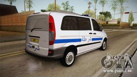 Mercedes-Benz Vito Algerian Police pour GTA San Andreas laissé vue