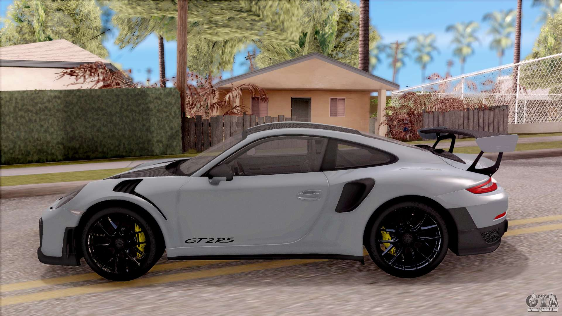 porsche 911 gt2 rs weissach package eu plate f r gta san. Black Bedroom Furniture Sets. Home Design Ideas