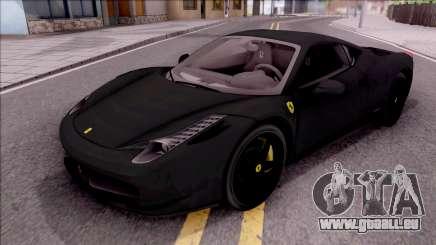 Ferrari 458 Italia Black für GTA San Andreas