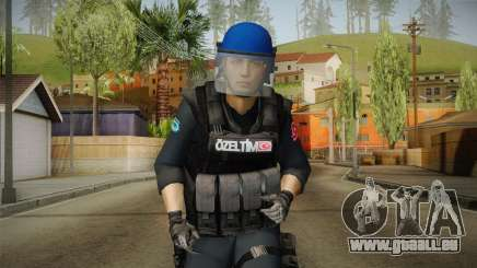 Turkish Police-Rapid Response Unit with Gear für GTA San Andreas