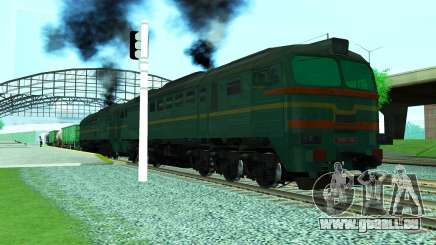 Locomotive de fret 2M62 1184 pour GTA San Andreas