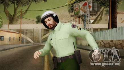 Iranian Cop Biker Skin pour GTA San Andreas