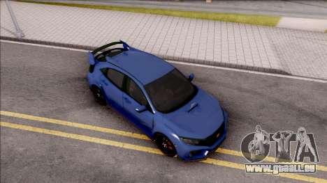 Honda Civic Type-R 2017 pour GTA San Andreas vue de droite