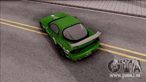 Mazda RX-7 NFS Undercover v2 für GTA San Andreas Rückansicht