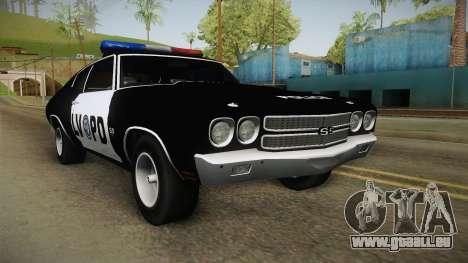 Chevrolet Chevelle SS Police LVPD 1970 v2 für GTA San Andreas