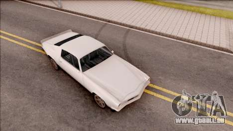Chevrolet Camaro Z28 1970 SA Style Low Poly pour GTA San Andreas vue de droite