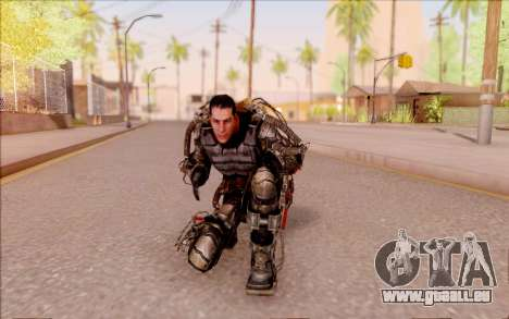 Degtyarev dans l'exosquelette de S. T. A. L. K.  pour GTA San Andreas sixième écran