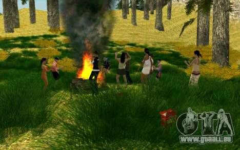 Eine Partei, die Radfahrer auf die Natur für GTA San Andreas her Screenshot