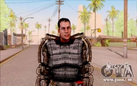 Degtyarev dans l'exosquelette de S. T. A. L. K.  pour GTA San Andreas deuxième écran