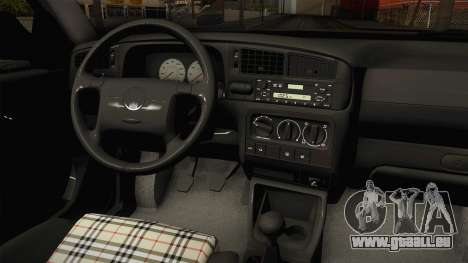 Volkswagen Jetta 1995 pour GTA San Andreas vue intérieure