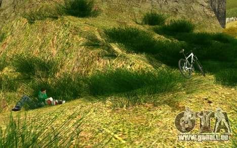 Eine Partei, die Radfahrer auf die Natur für GTA San Andreas fünften Screenshot