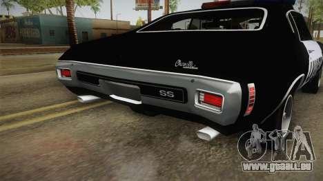 Chevrolet Chevelle SS Police LVPD 1970 v2 für GTA San Andreas Innen