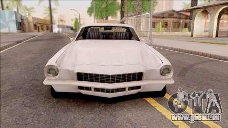 Chevrolet Camaro Z28 1970 SA Style Low Poly pour GTA San Andreas vue intérieure