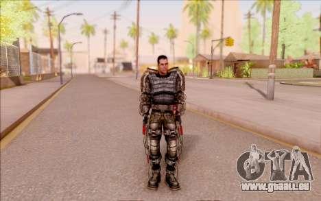 Degtyarev dans l'exosquelette de S. T. A. L. K.  pour GTA San Andreas troisième écran