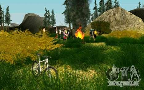 Eine Partei, die Radfahrer auf die Natur für GTA San Andreas dritten Screenshot