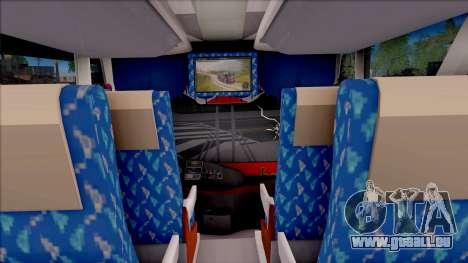 New Khan Bus G pour GTA San Andreas vue intérieure