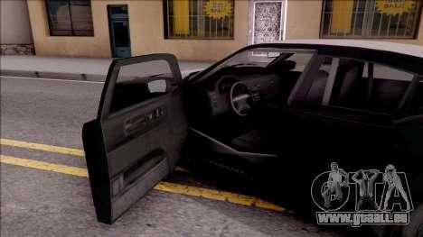 GTA V Bravado Buffalo Edition pour GTA San Andreas vue intérieure