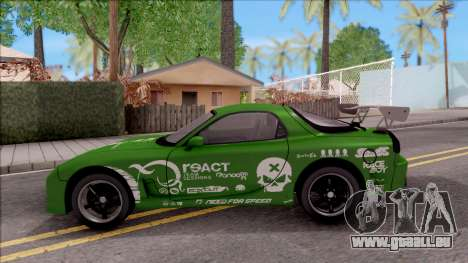 Mazda RX-7 NFS Undercover v2 für GTA San Andreas linke Ansicht