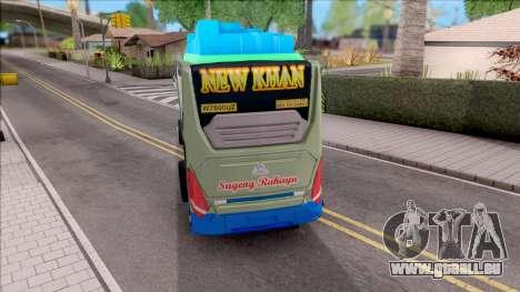 New Khan Bus G pour GTA San Andreas sur la vue arrière gauche