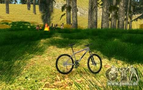 Eine Partei, die Radfahrer auf die Natur für GTA San Andreas sechsten Screenshot