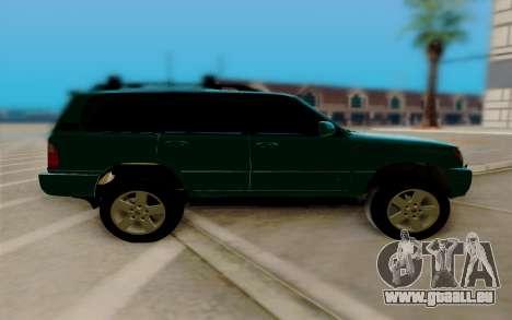 Lexus LX470 FBI pour GTA San Andreas laissé vue