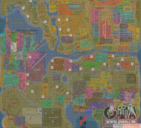 Happy MAP für GTA San Andreas dritten Screenshot