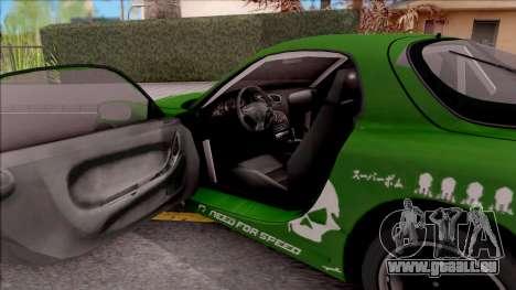 Mazda RX-7 NFS Undercover v2 für GTA San Andreas Innenansicht