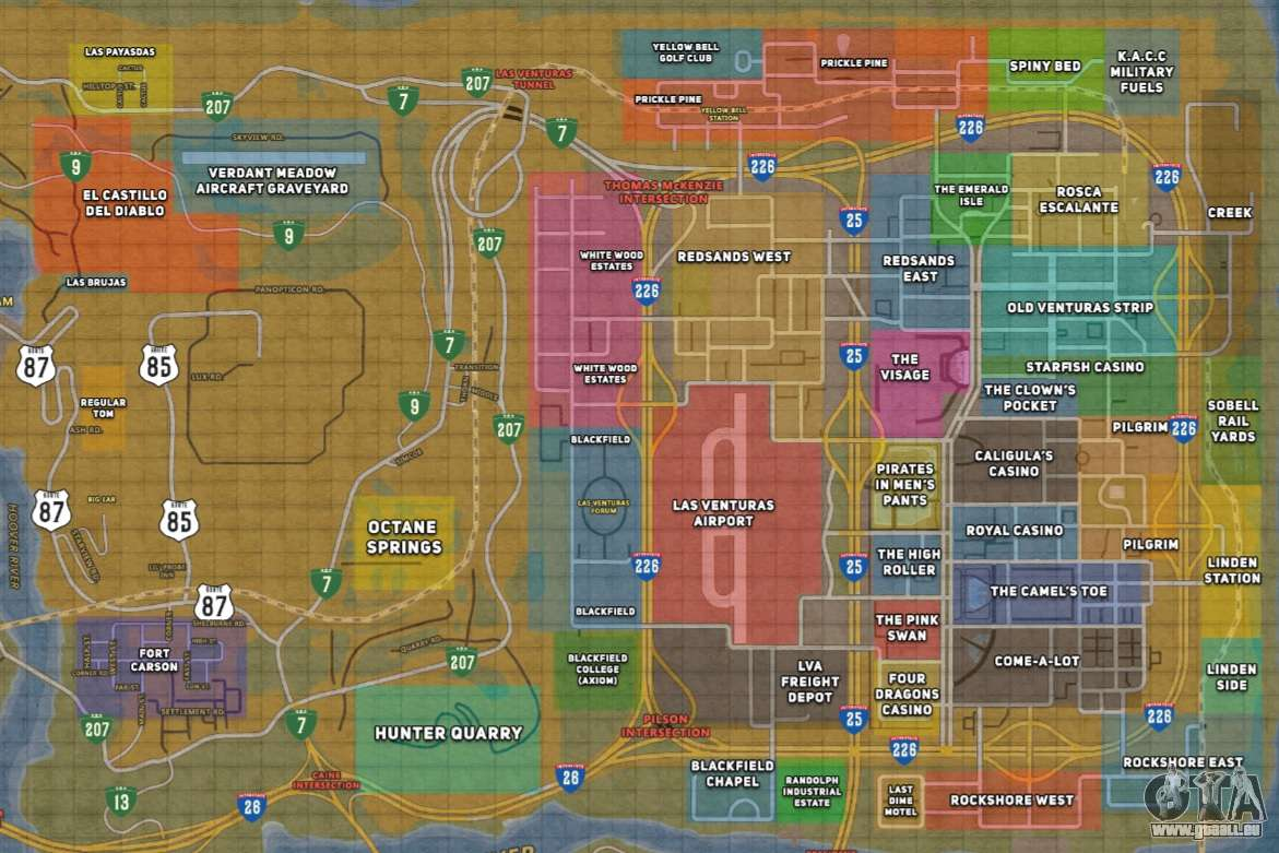 Gta San Andreas Karte.Happy Map Für Gta San Andreas