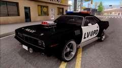 Plymouth Hemi Cuda 426 Police LVPD 1971 v2 pour GTA San Andreas