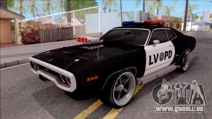Plymouth GTX Police LVPD 1972 pour GTA San Andreas