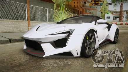 W Motors - Fenyr Supersports 2017 Dubai Plate für GTA San Andreas