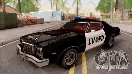 Ford Gran Torino Police LVPD 1975 v2 für GTA San Andreas