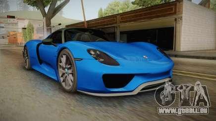 Porsche 918 Spyder Weissach Package 2015 pour GTA San Andreas