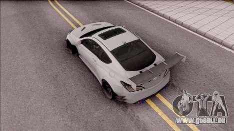 Hyundai Genesis Coupe 3.8 2013 Rocket Bunny für GTA San Andreas Rückansicht