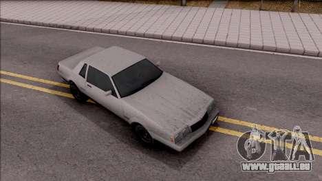 GTA IV Declasse Sabre pour GTA San Andreas vue de droite