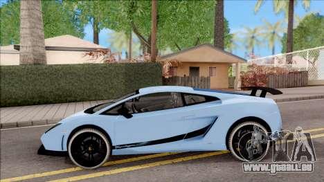 Lamborghini Gallardo Superleggera LP 570-4 pour GTA San Andreas laissé vue