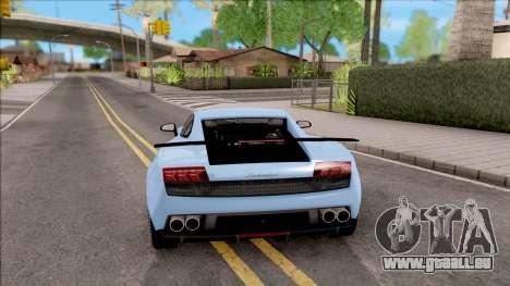 Lamborghini Gallardo Superleggera LP 570-4 pour GTA San Andreas sur la vue arrière gauche