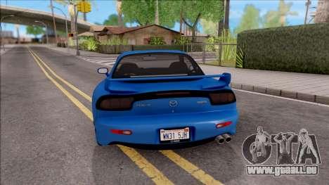 Mazda RX-7 1997 für GTA San Andreas zurück linke Ansicht
