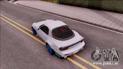 Mazda RX-7 Rocket Bunny für GTA San Andreas Rückansicht
