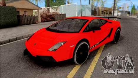 Lamborghini Gallardo Superleggera LP 570-4 pour GTA San Andreas vue intérieure