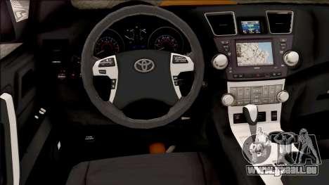 Toyota Hilux 2017 pour GTA San Andreas vue intérieure