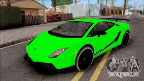 Lamborghini Gallardo Superleggera LP 570-4 pour GTA San Andreas vue de côté