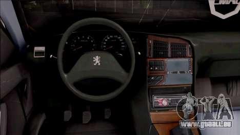 Peugeot Pars für GTA San Andreas Innenansicht