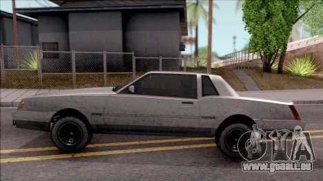 GTA IV Declasse Sabre pour GTA San Andreas laissé vue
