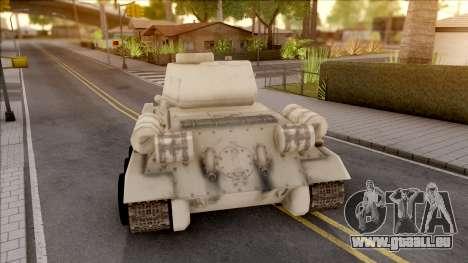 T-34 Z pour GTA San Andreas sur la vue arrière gauche