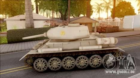 T-34 Z pour GTA San Andreas laissé vue