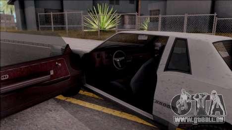 GTA IV Declasse Sabre pour GTA San Andreas vue intérieure